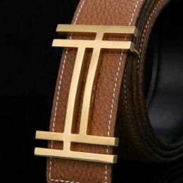 Hermes Belt 18K Gold Fashion H Brushed Buckle