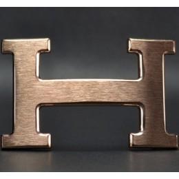 Hermes Belt 18K Pink Gold Brushed Buckle