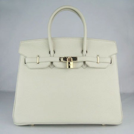 Hermes Birkin 35Cm Togo Leather Handbags Beige Gold