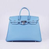 Hermes Birkin 35cm Togo Leather Handbag Pink Silver For Sale b954ac7468