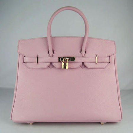 7090379dd3e2 Hermes Birkin 35cm Togo Leather Handbag Pink Gold For Sale