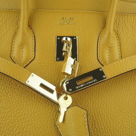 Hermes Birkin 35Cm Togo Leather Handbags Yellow Gold