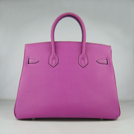 Hermes Birkin 35Cm Cattle Skin Stripe Handbags Peach Silver