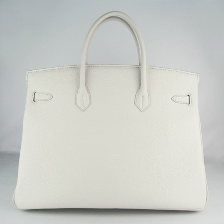 Hermes Birkin 40Cm Togo Leather Handbags Beige Silver