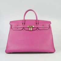 Hermes Birkin 40Cm Togo Leather Handbags Peach Gold