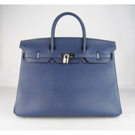 44ee7ebfaa0e Hermes Birkin 40Cm Togo Leather Handbags Dark Blue Silver ...