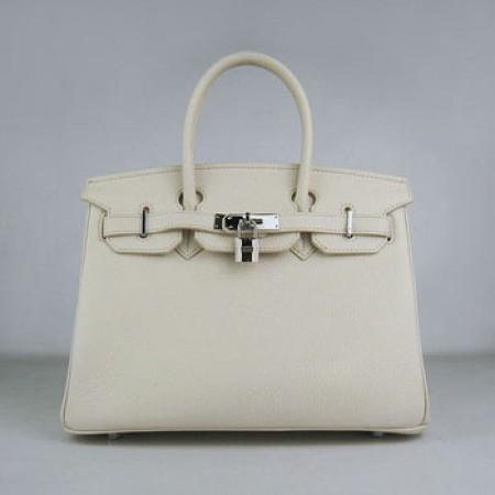 a413006333b8 Hermes Birkin 30cm Togo Leather Handbag Beige Silver For Sale