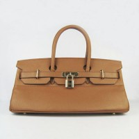 Hermes Birkin 42Cm Togo Leather Handbags Coffee Gol
