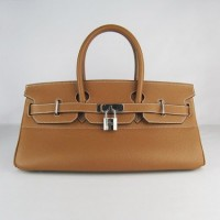 Hermes Birkin 42Cm Togo Leather Handbags Coffee Sil