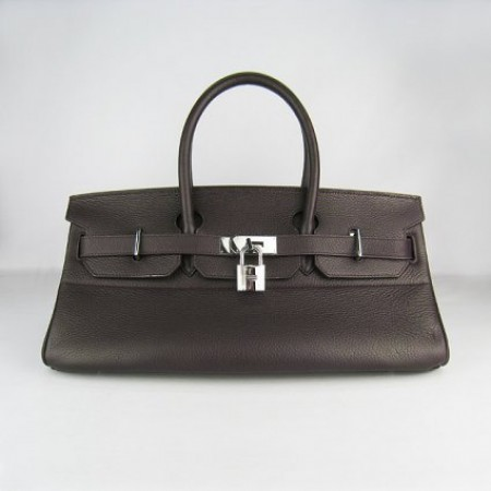 Hermes Birkin 42Cm Togo Leather Handbags Dark Coffee Silver