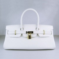 Hermes Birkin 42Cm Togo Leather Handbags White Gold