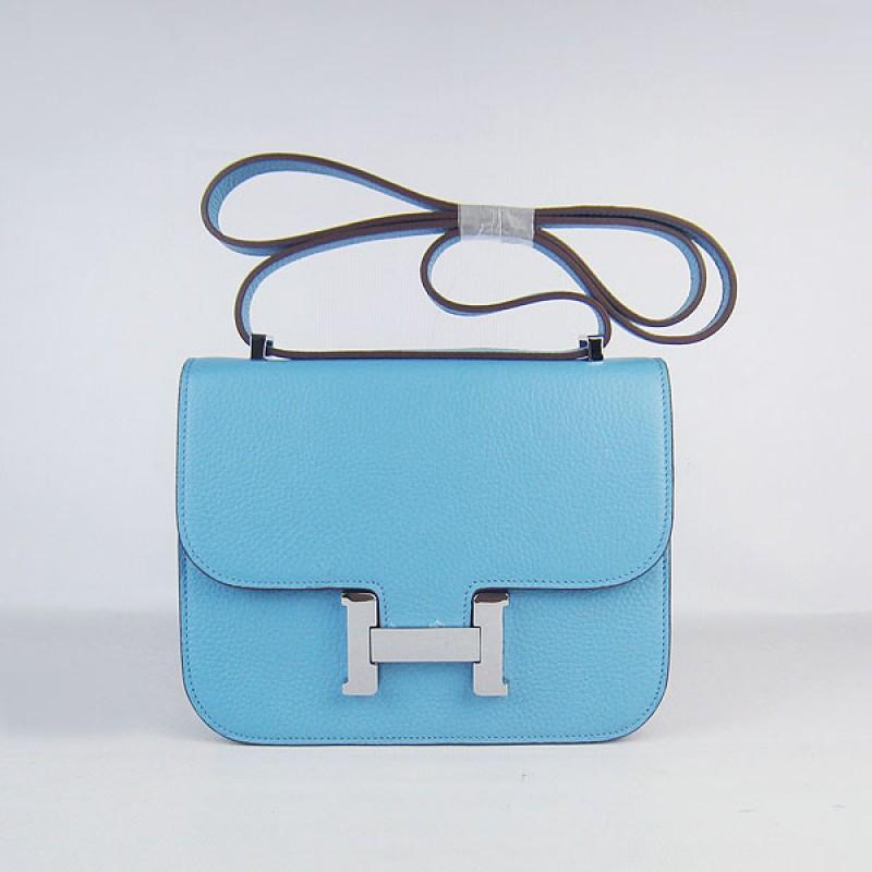 9737febc056 Hermes Constance Replica Shoulder Bag Skyblue Silver ,Discount