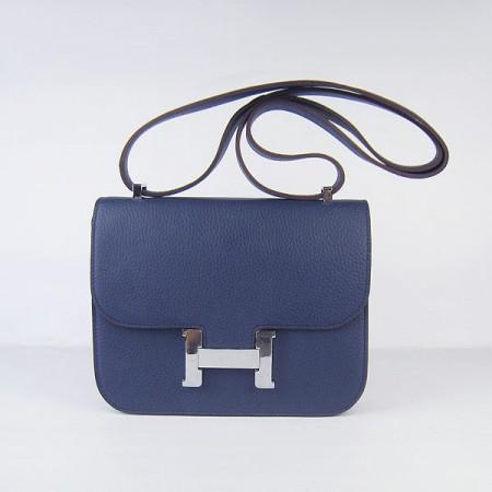 87c9874c8fe Hermes Constance Replica Shoulder Bag Deep Blue Silver ,Discount