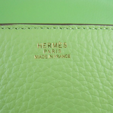 Hermes Constance Shoulder Bag Green Glod