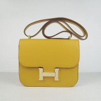 Hermes Constance Shoulder Bag Yellow Glod