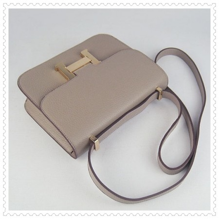 Hermes Constance Shoulder Bag Beige Gold