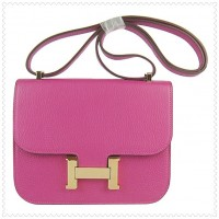 Hermes Constance Shoulder Bag Peach Gold