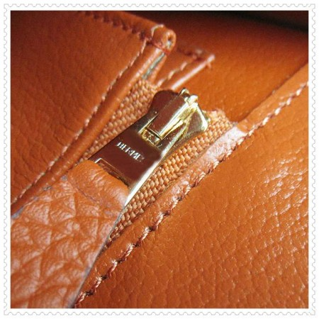 Hermes Constance Shoulder Bag Orange Gold