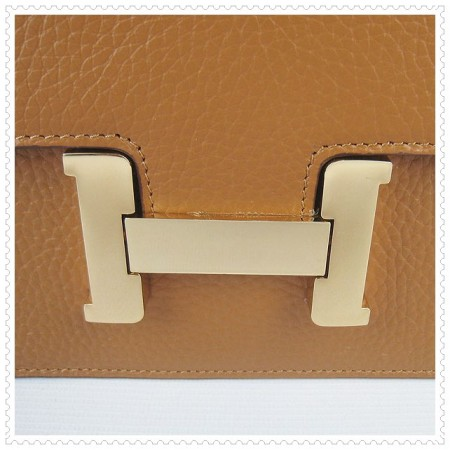 Hermes Constance Shoulder Bag Light Tan Gold