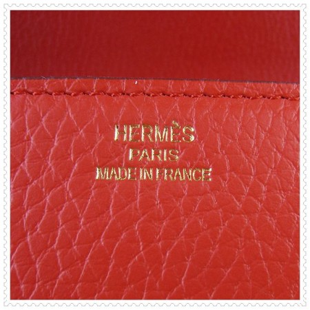 Hermes Constance Shoulder Bag Red Gold