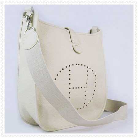 Hermes Evelyne III Bag White