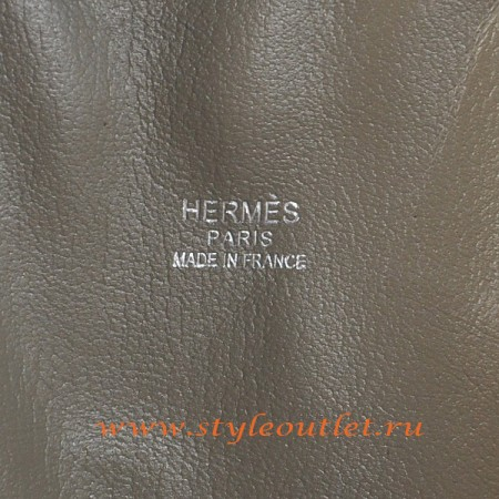 Hermes Bolide 31cm Dark Grey Togo Leather Bag Silvery
