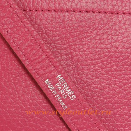 Hermes Bolide 31cm Peach Togo Leather Bag Silvery