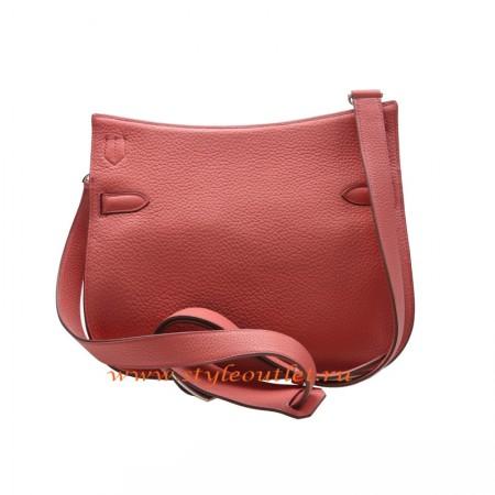 f75b9ea37a65 Hermes Jypsiere 28cm Togo Leather Shoulder Bag Peach Silver