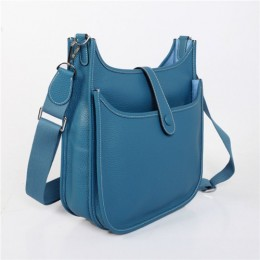 Hermes Evelyne Gm W32cm Messanger Bag Blue