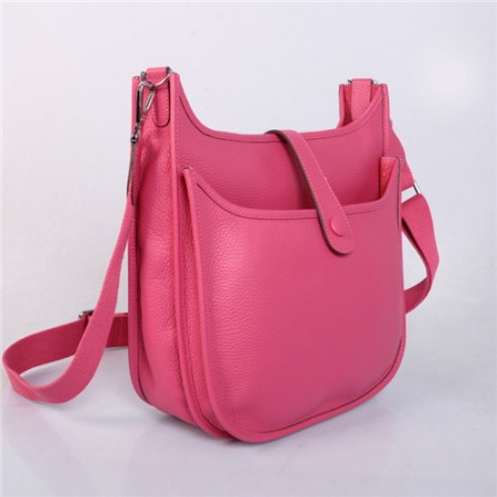 Hermes Evelyne GM W32cm Bag Peach Pink