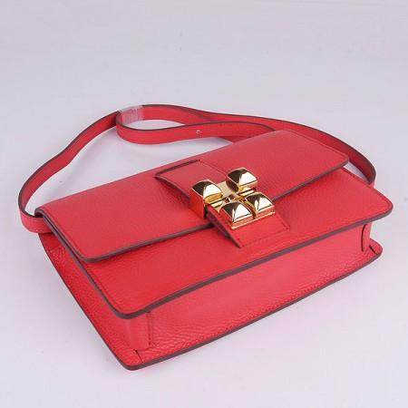 edc6af951c3 Hermes Medor Light Red Calfskin Replica Shoulder Bag Gold