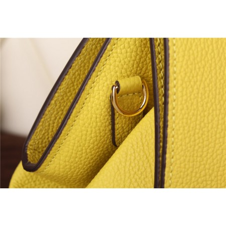 New Arrives Hermes 8065 Calf Leather Mini Top Handle Bag - Yellow