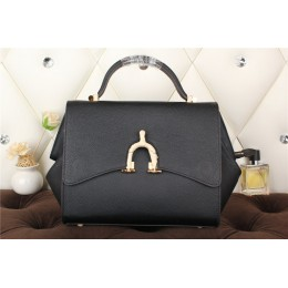 New Arrives Hermes 8065 Calf Leather Mini Top Handle Bag - Black