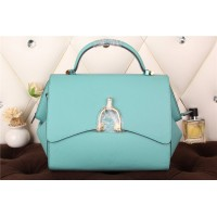 New Arrives Hermes 8065 Calf Leather Mini Top Handle Bag - light Blue