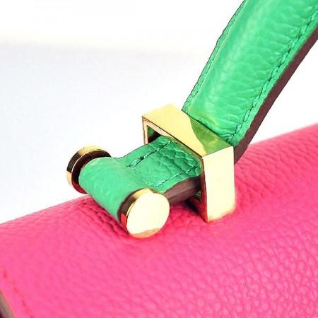 Hermes Stirrup Mini Orange and Top Handle Peach Green Bag