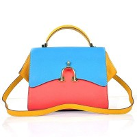 Hermes Stirrup Mini Red& Top Handle Blue Yellow Bag
