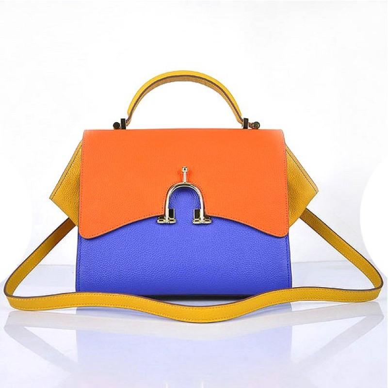 0ced7f1d53ae Hermes Stirrup Mini Top Handle Blue Orange Yellow Bag ...