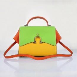 Hermes Stirrup Mini Top Handle Yellow Green Orange Bag