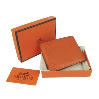 Hermes H014 Mini short Wallet Orange