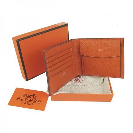 Hermes H014 Mini short Wallet Orange