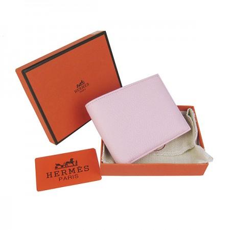 Hermes H014 Mini short Wallet Pink