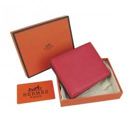 Hermes H014 Mini short Wallet Red