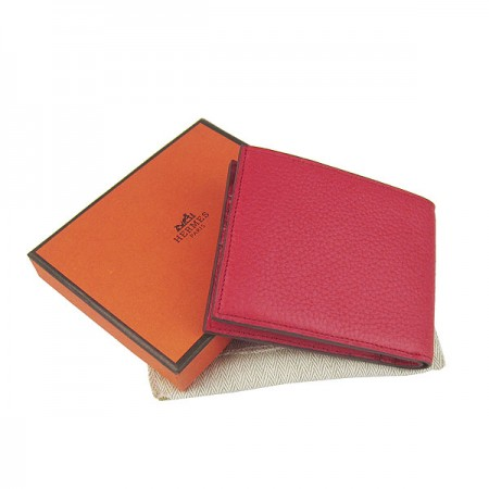 Hermes H014 Mini short Wallet Red