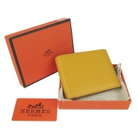 Hermes H014 Mini short Wallet Yellow