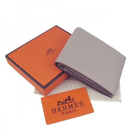 Hermes H014 Mini short Wallet Gray
