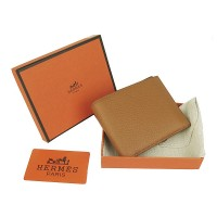 Hermes H014 Mini short Wallet light Coffee