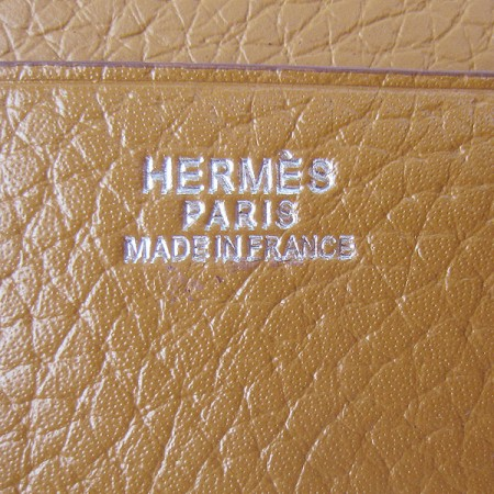 Hermes H014 Mini short Wallet light Coffee
