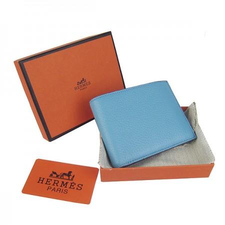 Hermes H014 Mini short Wallet light Blue