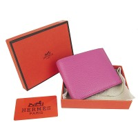 Hermes H014 Mini short Wallet Pink2