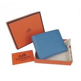 Hermes H014 Mini short Wallet Smalt